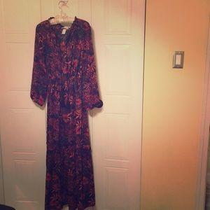 Bright prints maxi dress